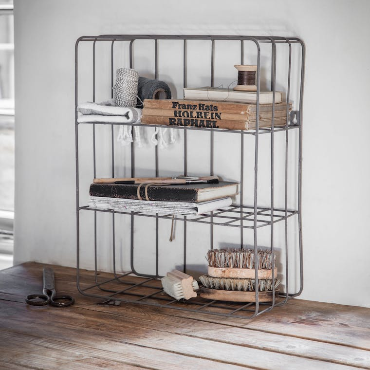Wirework Farringdon Wall Crate in Grey | Garden Trading