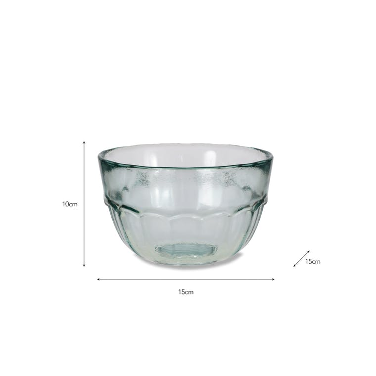 Recycled Glass Wells Bistro Bowl | Garden Trading