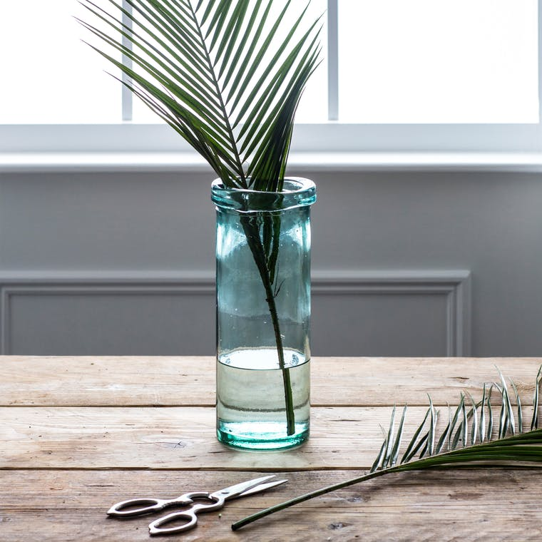 Recycled Glass Wells Column Vase in Small or Large | Garden Trading