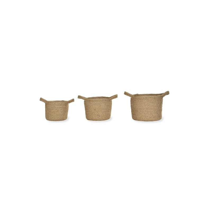 Jute Set of 3 Woven Indoor Plant Pots | Garden Trading