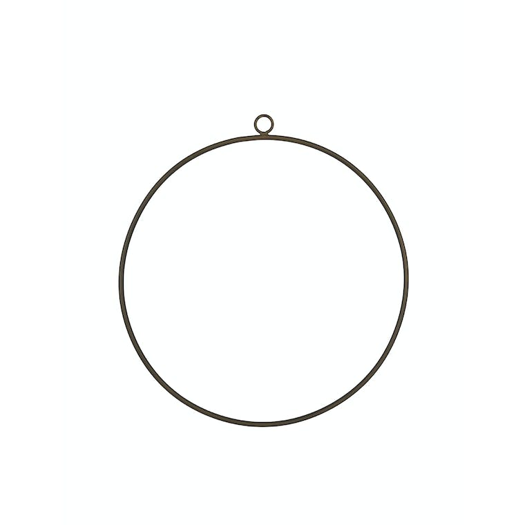 Wire Wreath Antique Brass in Small or Large - Cromwell | Garden Trading