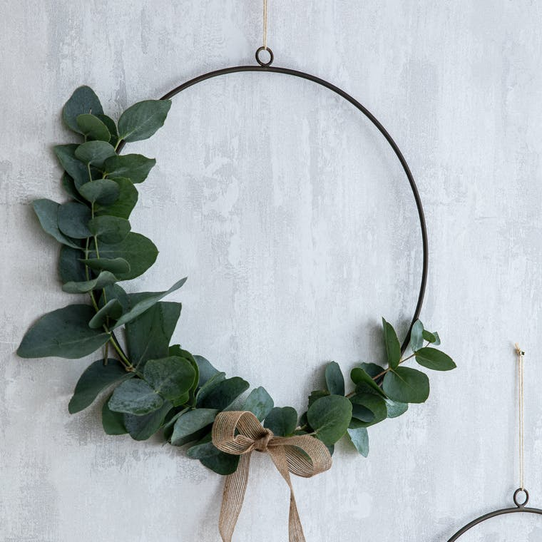 Wire Wreath Antique Brass in Small or Large - Cromwell   Garden Trading
