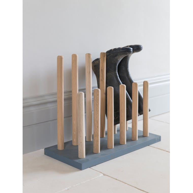 Wooden Welly Rack in Grey  | Garden Trading