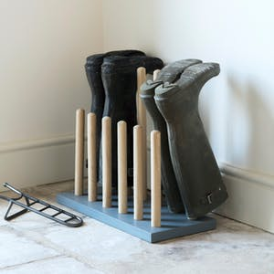 Wooden Welly Rack