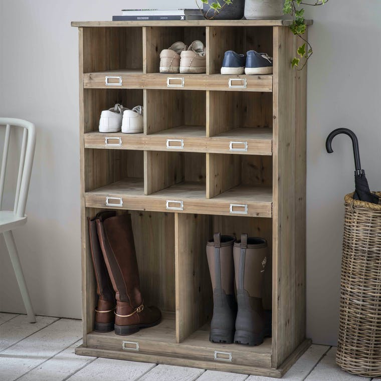 Wooden Chedworth Welly Shoe Locker in Large | Garden Trading