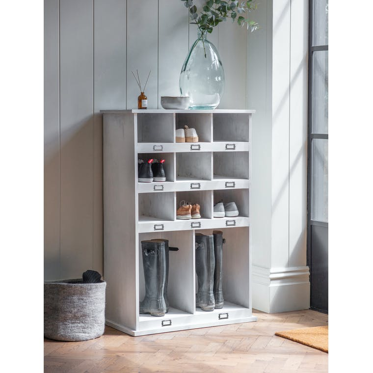 Shoe and Welly Locker Tall in Natural Wood - Chedworth | Garden Trading