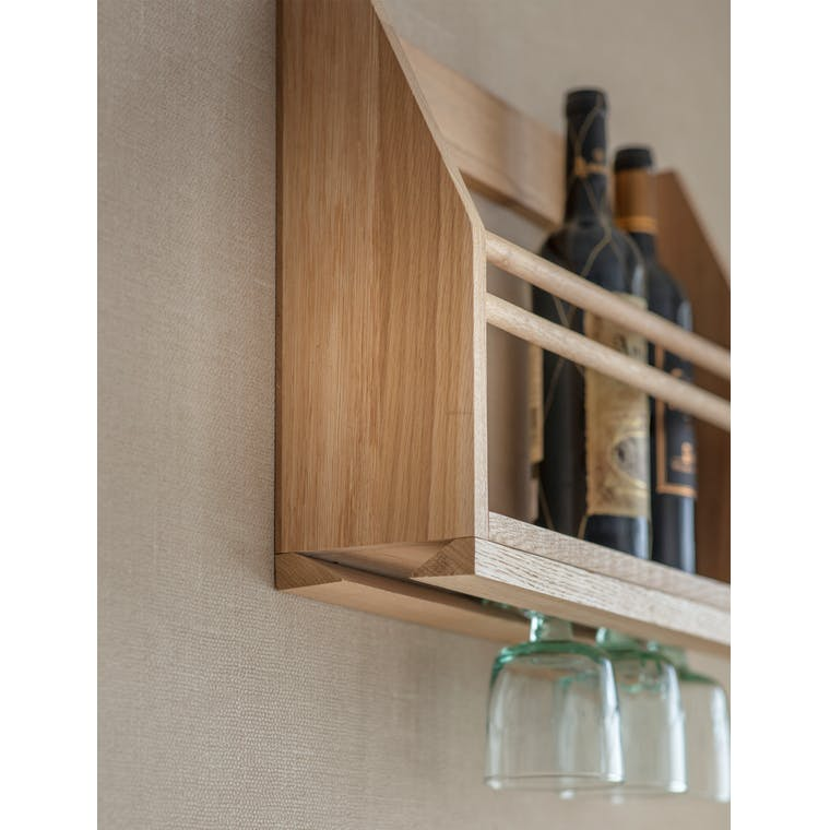 Wooden Hambledon Wine Glass Shelf | Garden Trading