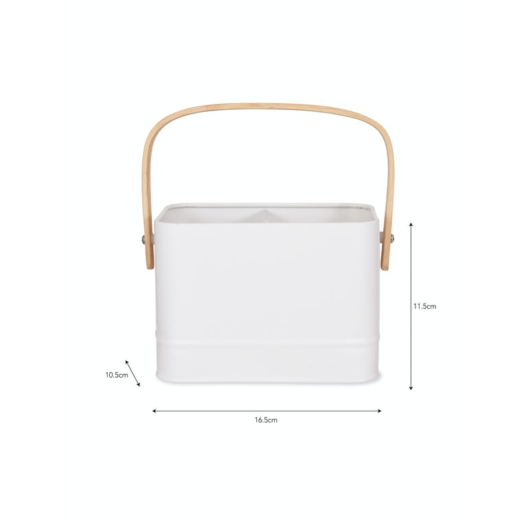 Portland Wash Up Tidy in White | Garden Trading