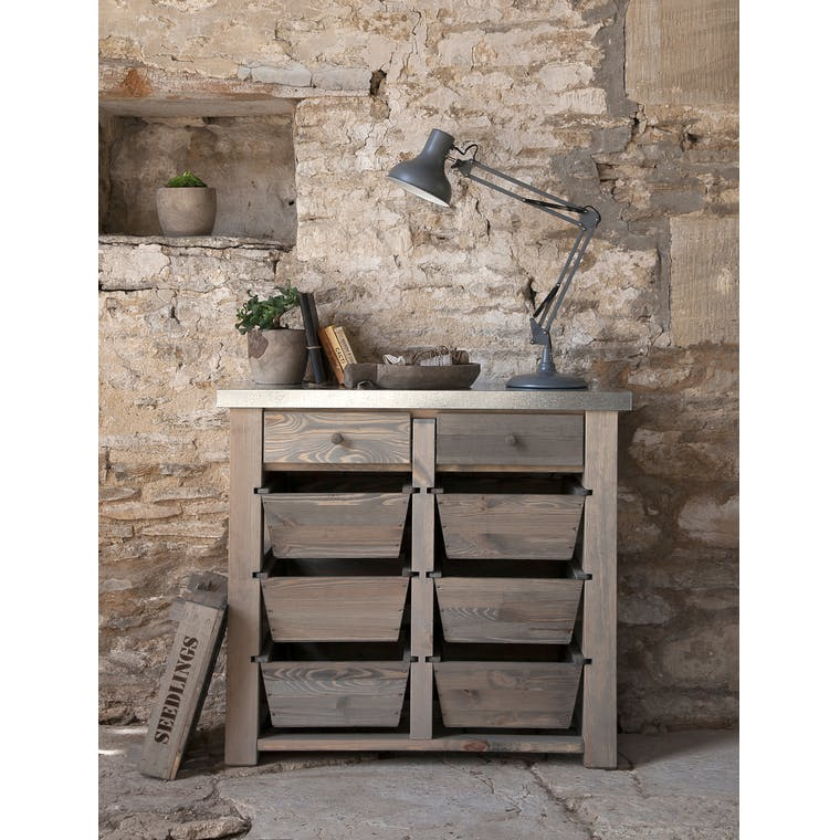 Wooden Aldsworth 8 Drawer Storage Unit | Garden Trading